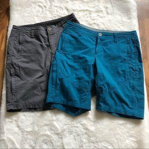 Bundle of 2 kuhl spire hiking shorts in size 6